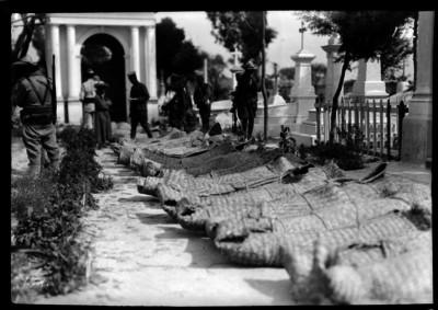 Soldados caídos durante los combates de Ocotlán