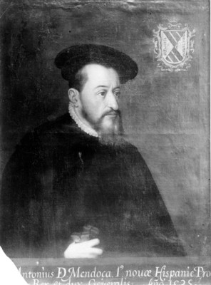 """""""Antonio de Mendoza"""", virrey de la Nueva España, pintura al óleo"""
