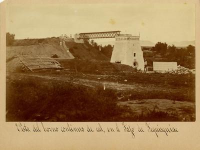 Horno de cal en Tequixquiac, vista general