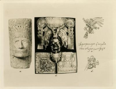 Comparación de deidades prehispánicas entre scultura, pectoral y códices