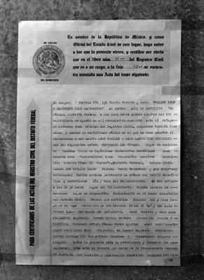 Acta de defunción de León Trotsky