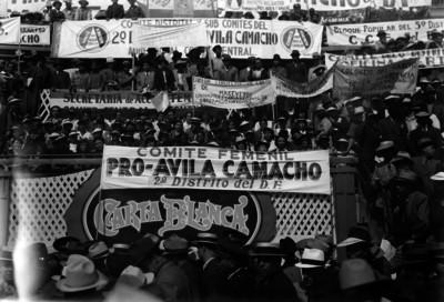 Comites apoyando a la candidatura de Manuel Ávila Camacho