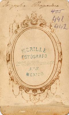 Francisco Aquiles Bazaine y Josefa Peña y Azcárate, tarjeta de visita