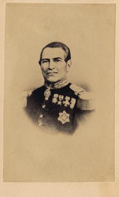 """""""Gral. Almonte, Regente en el Imperio Mejicano (sic)"""", tarjeta de visita"""