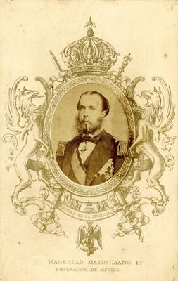 """Tarjeta de visita con el retrato de """"Maximiliano"""""""