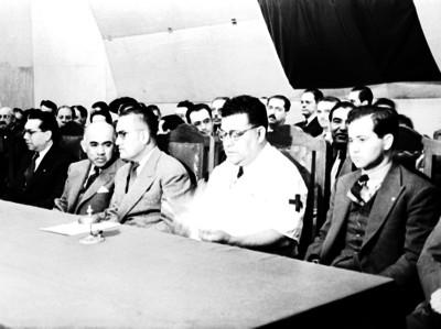 Luis Sánchez Pontón durante una asamblea
