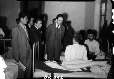Gustavo Baz en un hospital