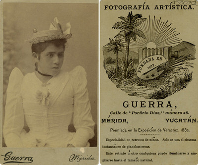 Niña con sombrero, retrato, tarjeta de visita