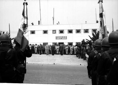 Ceremonia de inauguración del Cuartel General de la 1a. División de Infantería