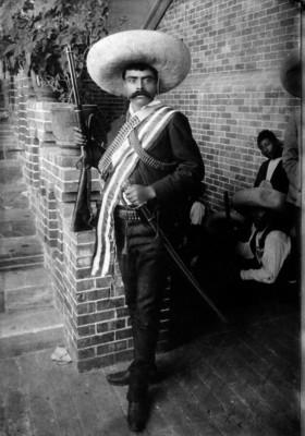 Emiliano Zapata en su cuartel de Cuernavaca, retrato