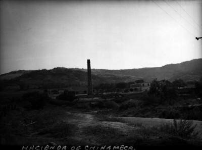 Chimenea de la Hacienda de Chinameca, vista panorámica