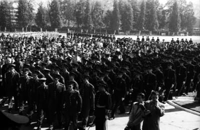 Contingente militar durante una cermonia en el Colegio Militar