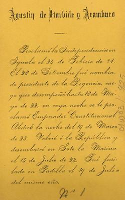 Agustín de Iturbide y Aramburo, retrato