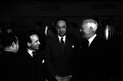 Antonio Díaz Lombardo, Gunard Beckman y otro hombre en un evento