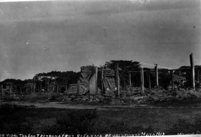 Casas de ricos destruidas por los zapatistas