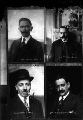 Manuel Peláez, Francisco Carbajal, Alberto Pani y otro personaje