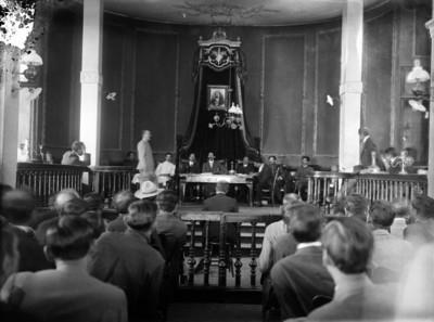Tribunal durante juicio militar