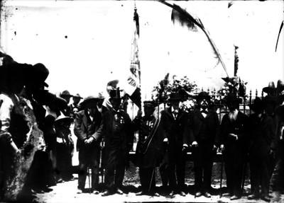 Militares veteranos en ceremonia