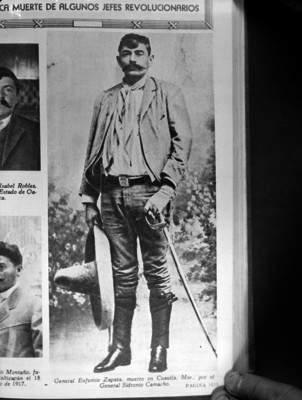 Eufemio Zapata, retrato, reprografía bibliográfica