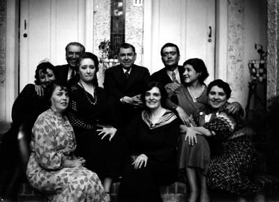 Familia de Adolfo de la Huerta, retrato de familia