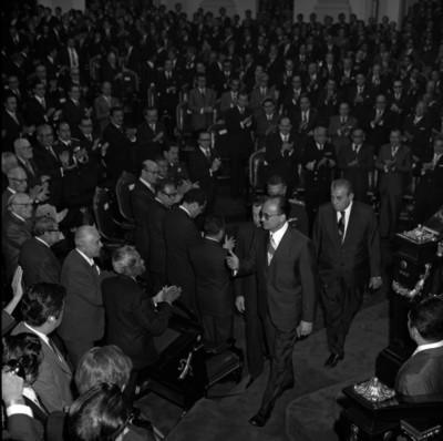 Recepción a Luis Echeverría Alvarez en la Cámara de Diputados