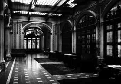 Lobby del Gran Hotel, vista hacia la salida