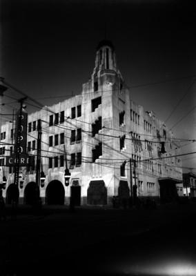 Edificio de la Inspección General de Policía y Cuartel General de Bomberos, vista frontal