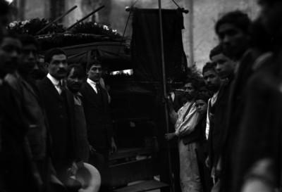 Cortejo fúnebre de un obrero