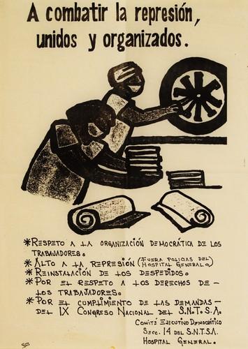 A combatir la represión, unidos y organizados.  (Dos ejemplares)
