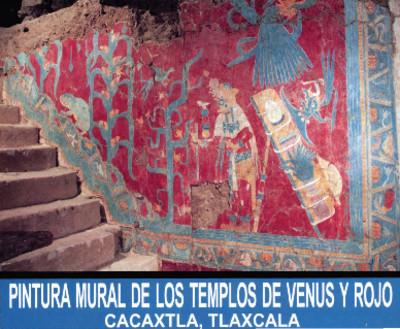 Pintura mural de los templos de Venus y Rojo