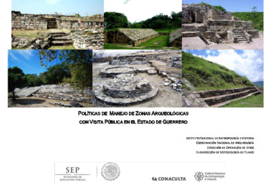 Políticas de Manejo de Zonas Arqueológicas con Visita Pública, Guerrero
