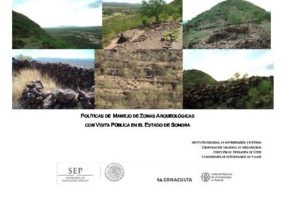 Políticas de Manejo de Zonas Arqueológicas con Visita Pública, Sonora