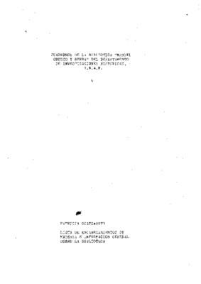 Lista de encabezamientos de materia e información general sobre la Biblioteca