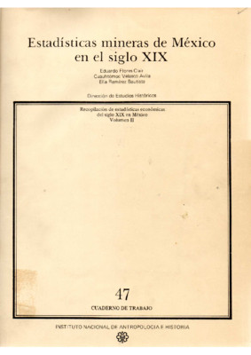 Estadísticas mineras de Mexico en el siglo XIX
