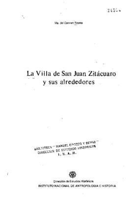 La villa de San Juan Zitácuaro y sus alrededores