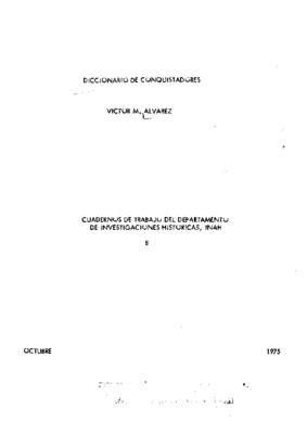 Diccionario de conquistadores I