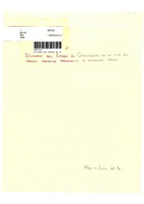 Dictamen del estado de conservación de la caja del órgano portativo proveniente de Tamazulapa, Oaxaca