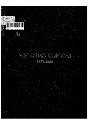 Historias Clínicas 1987-1988