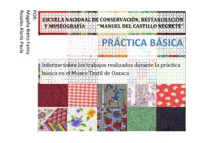 Informe sobre los trabajos realizados durante la práctica básica en el Museo Textil de Oaxaca