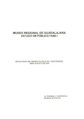 Museo Regional de Guadalajara. Estudio de público fase I