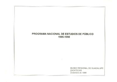 Programa Nacional de Estudios de Público 1995-1998
