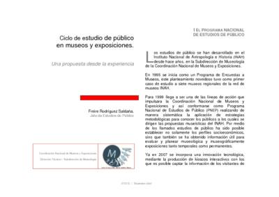 Ciclo de estudio de público en museos y exposiciones