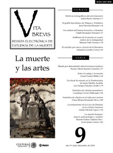 Vita Brevis Num. 9 (2016) La muerte y las artes