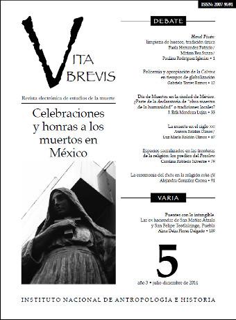 Vita Brevis Num. 5 (2014) Celebraciones y honras a los muertos en México