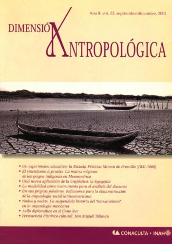 Dimensión Antropológica Vol. 23 (2001)