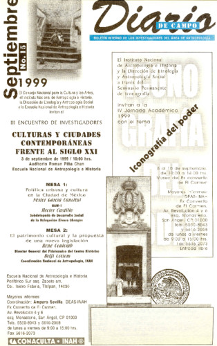 Diario de Campo - Num. 15 (1999)