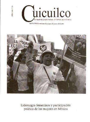 Cuicuilco Vol. 10 Num. 27 (2003) Liderazgos femeninos y participación política de las mujeres en México