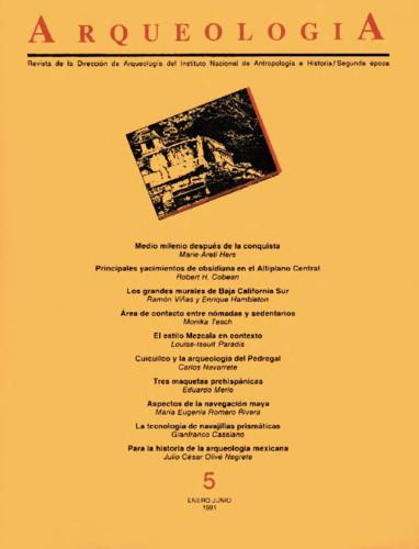 Arqueología Núm. 5 (1991) Segunda Época