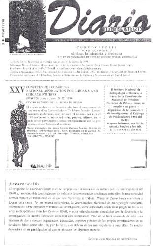 Diario de Campo Num. 1 (1998)