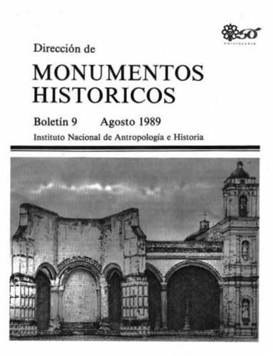 Boletín de Monumentos Históricos Núm. 9 (1989) (Segunda Época)